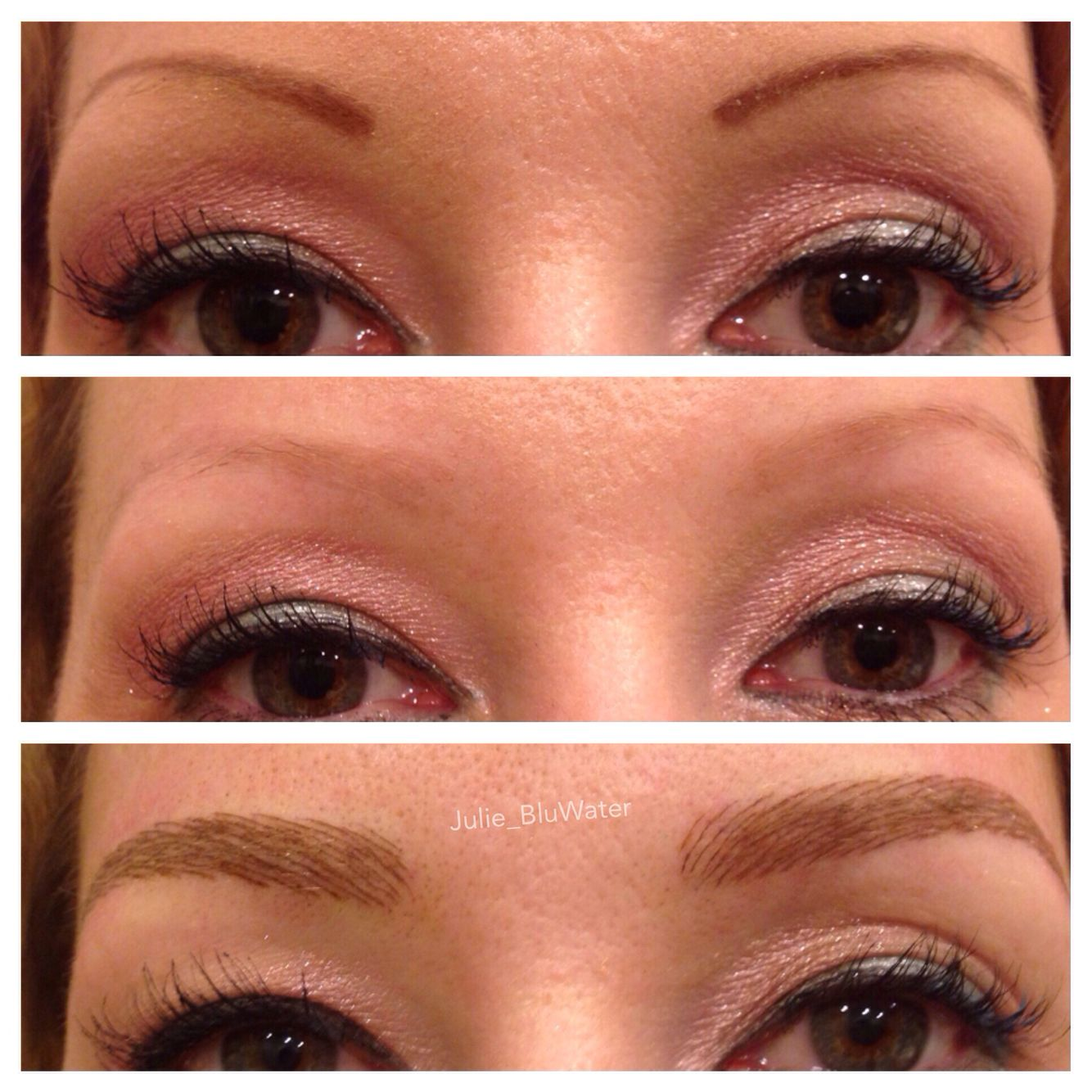 Permanent makeup eyebrows before after and healed fay blog for Best eyebrow tattoo san diego