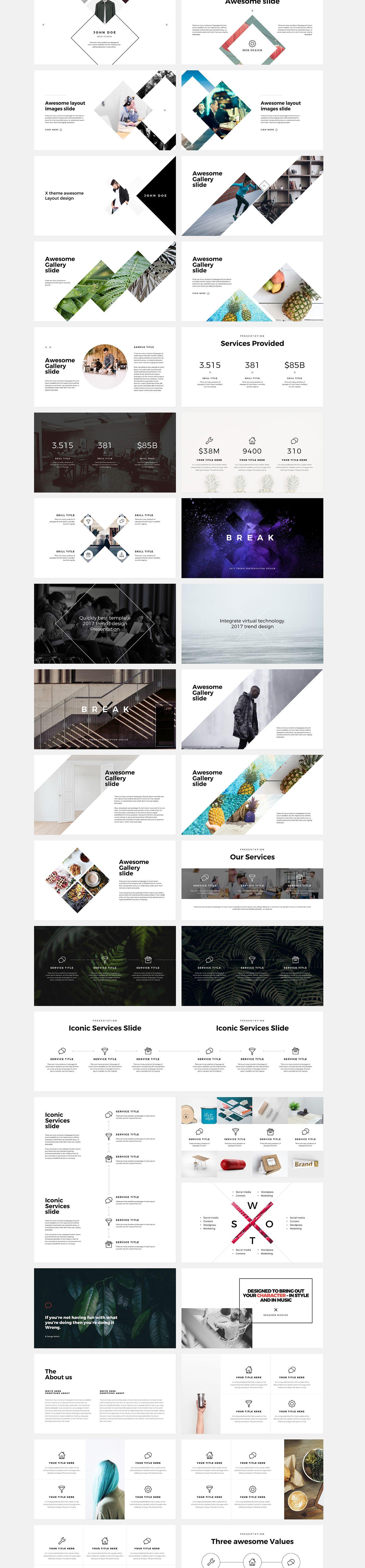 X free powerpoint keynote template on behance web design x free powerpoint keynote template on behance toneelgroepblik Gallery