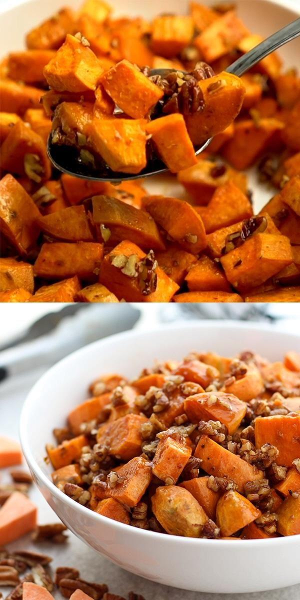 Brown Sugar Pecan Roasted Sweet Potatoes (Baked Sw