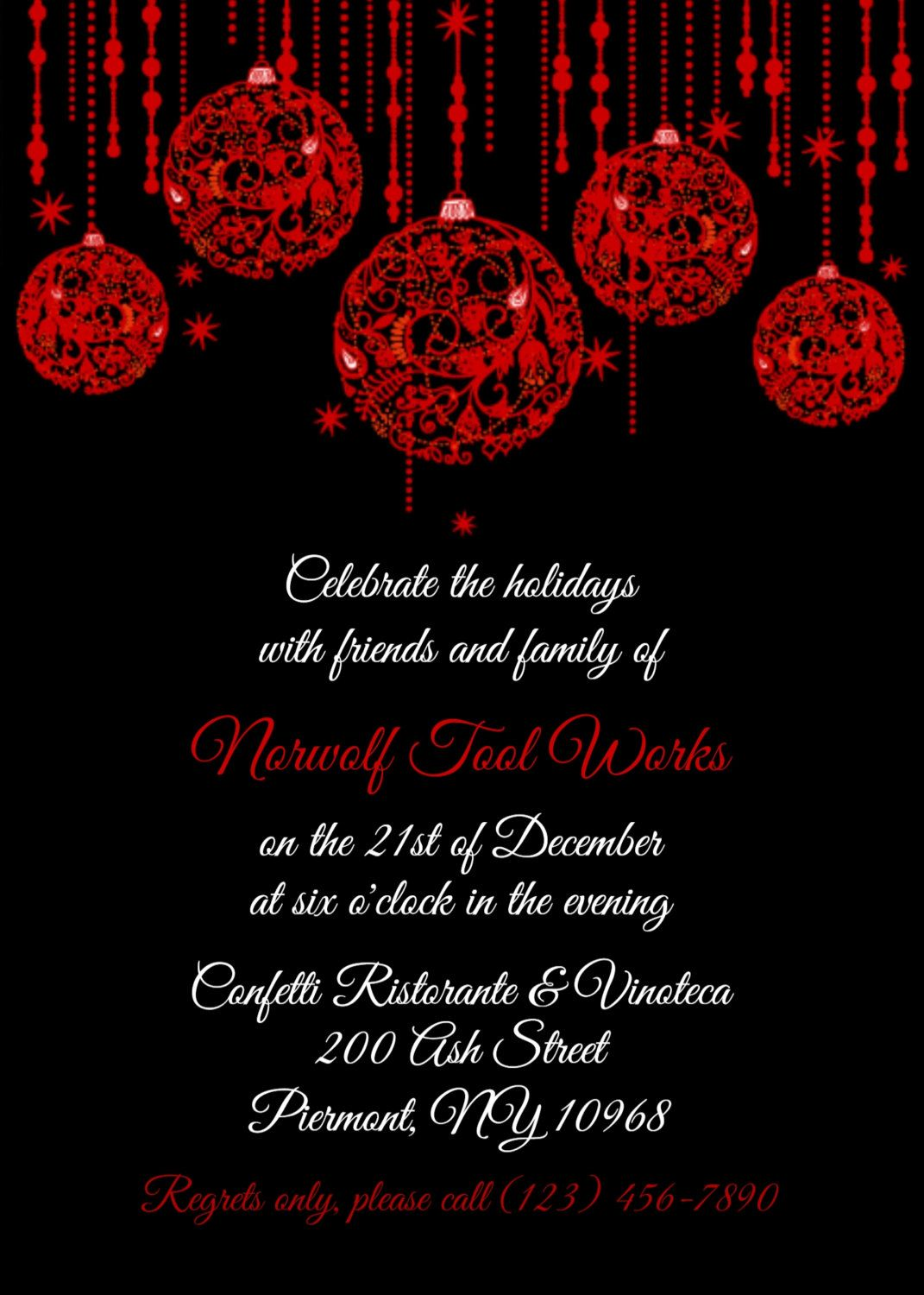 jk THIS is it Holiday Party Invitation Personalized Cust