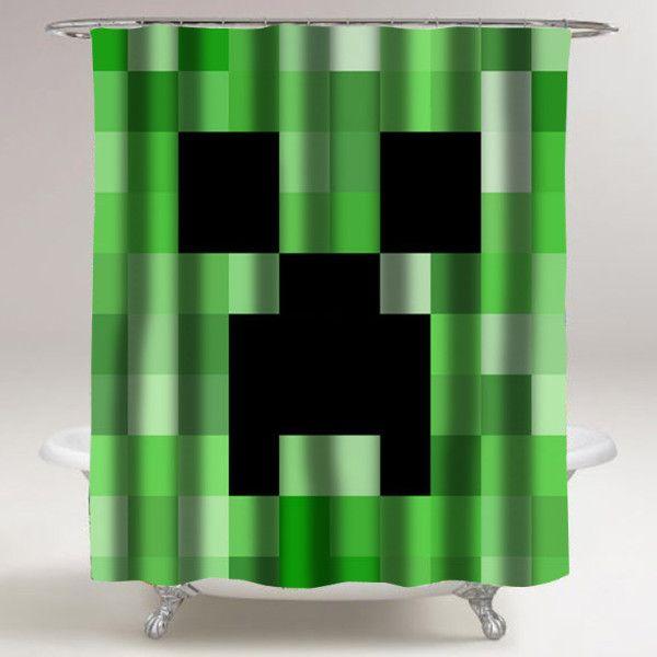 Minecraft Creeper Shower Curtains Custom Shower Curtains Shower