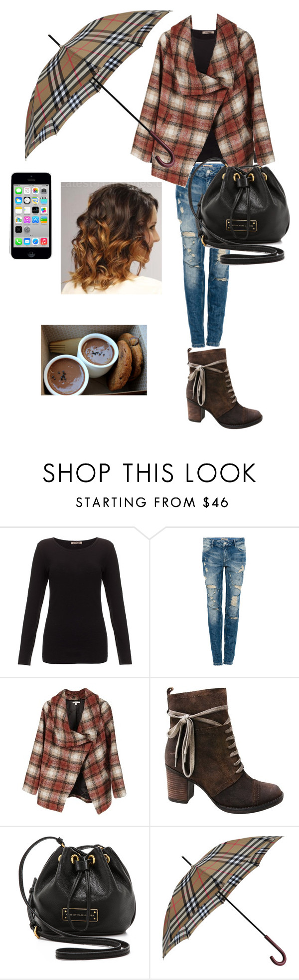 """""""Untitled #576"""" by cheresh ❤ liked on Polyvore featuring Jigsaw, Pull&Bear, Miz Mooz, Marc by Marc Jacobs and Burberry"""