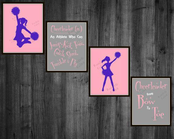 S Cheerleader Room Decor Cheerleading Wall By Raising3cains
