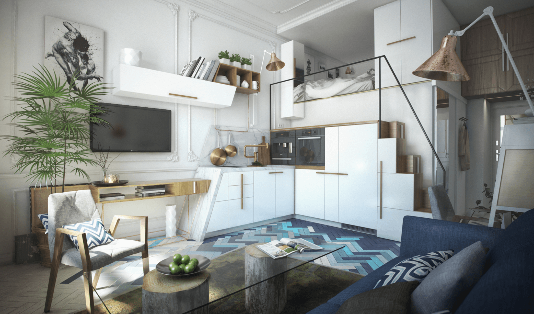 studio apartment design | Small living | Pinterest | Studio ...