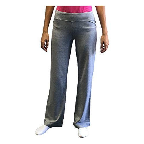 deb546d6d20 Danskin Now Petite Womens Dri More Bootcut Pants Yoga Fitness Activewear  Petite Large Grey     Want additional info  Click on the image.