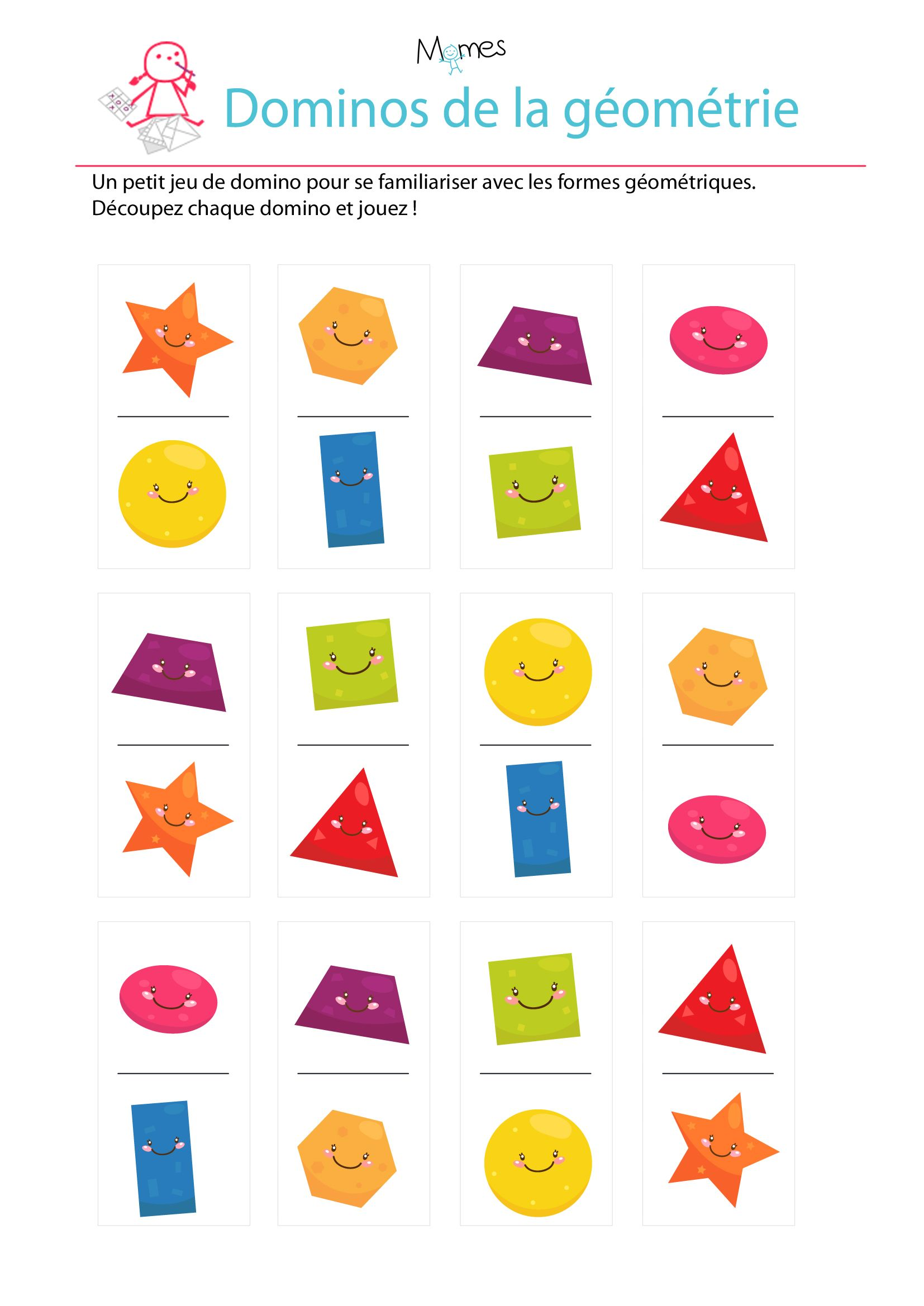 jeu de domino imprimer sur les formes g om triques id e timeo pinterest g om trie les. Black Bedroom Furniture Sets. Home Design Ideas