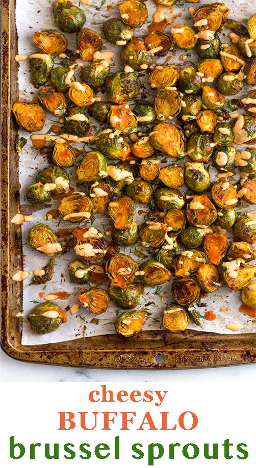 Cheesy Buffalo Brussel Sprouts