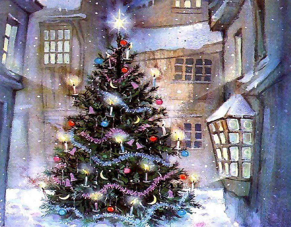 Paisaje navideo  Navidad  Pinterest  Imagenes navideas
