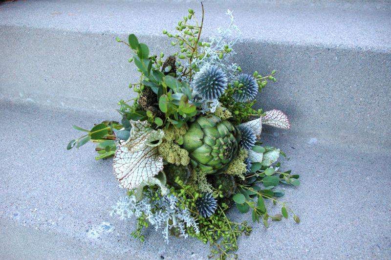 Artichoke and thistle bouquet   Floral Fix   Pinterest   Artichokes ...