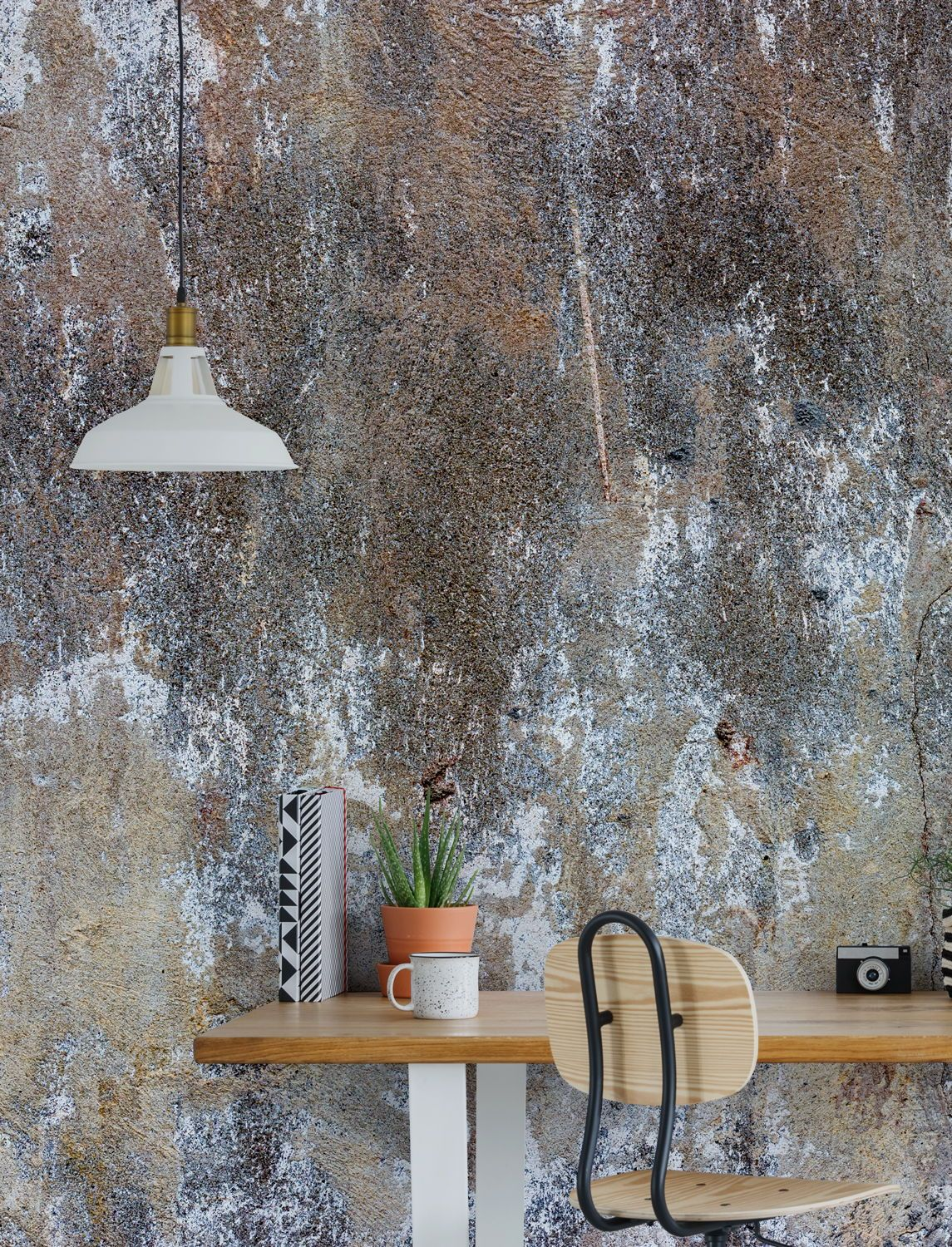 Looking For An Inspirational Accent Wall For Your Home Office Discover Our Large Collection In 2020 Concrete Wallpaper Feature Wallpaper Frames On Wall