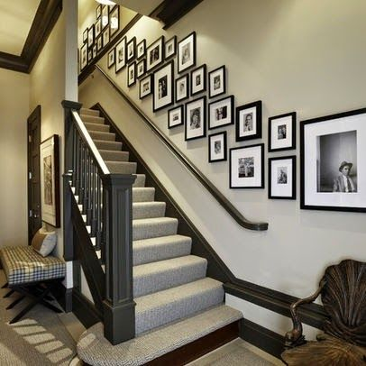 50 Creative Staircase Wall Decorating Ideas Art Frames   Designs For Staircase Wall   Partition   Classy   Attractive   Luxury   Transitional