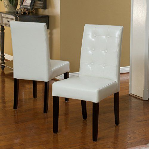 Ivory Leather Dining Room Chairs Inspiration Gillian Ivory Leather Dining Chairs Set Of 2  Furniture Hacks Review