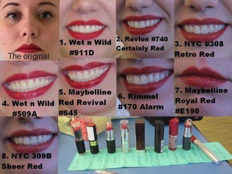 drugstore red lipstick comparison | Makeup, etc. | Pinterest | Red ...