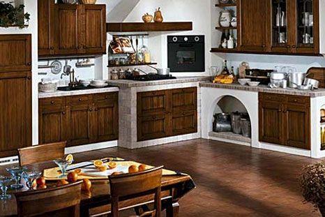 Cucine in muratura cucine tavoli sedie arredamento d for Arredamento cucine rustiche