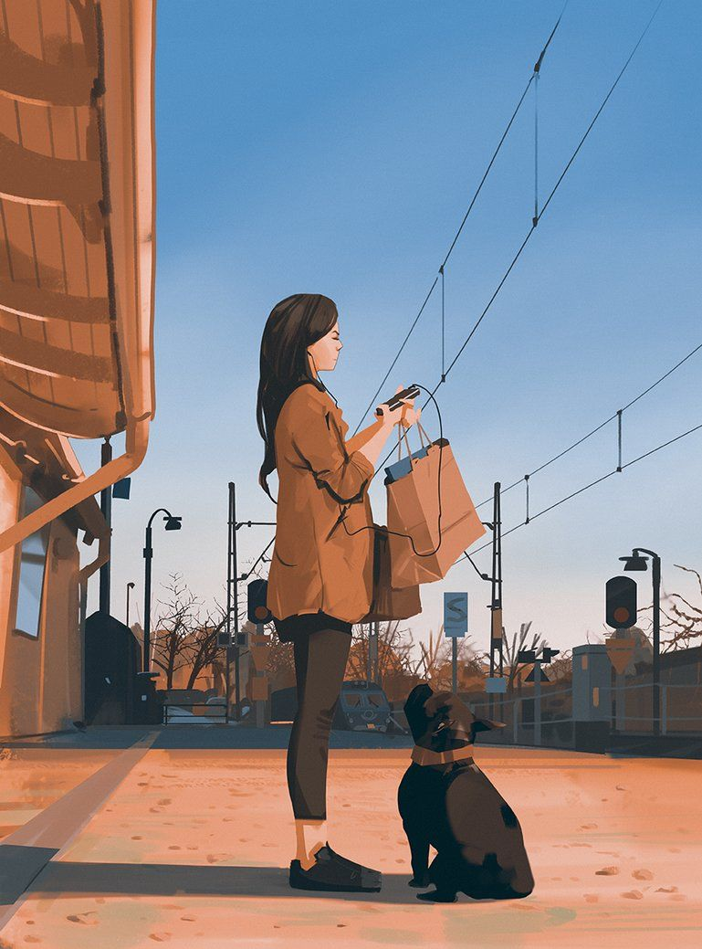 Waiting for the train by snatti89 on DeviantArt
