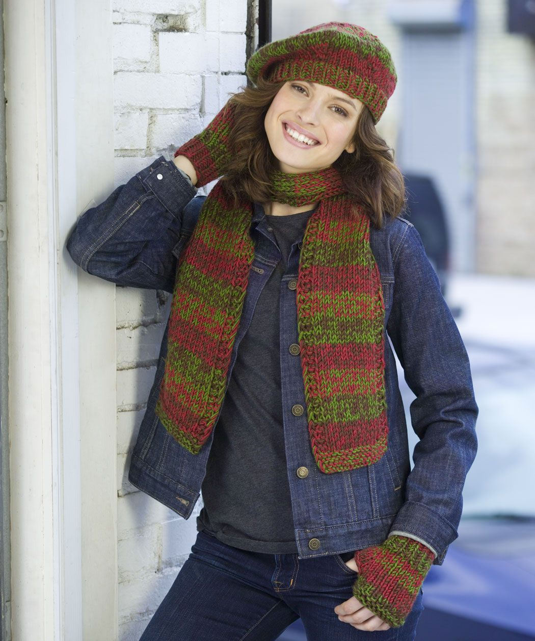 Shaded Knit Trio - example of set of hat, scarf, gloves combo only ...