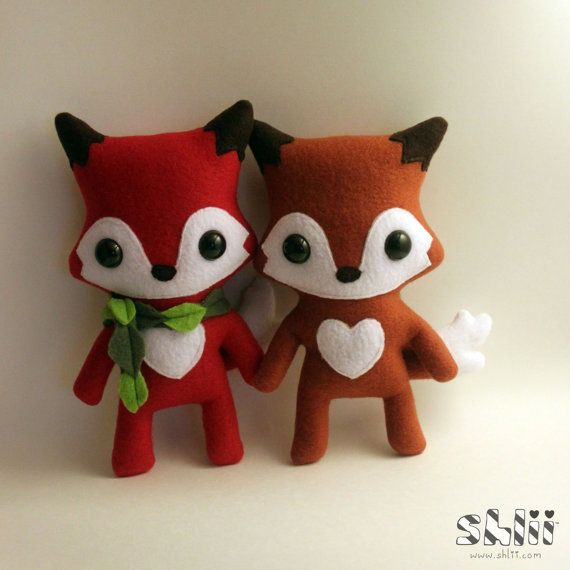 Cute Hip Fox Plush Doll by ShliiKawaii on Etsy