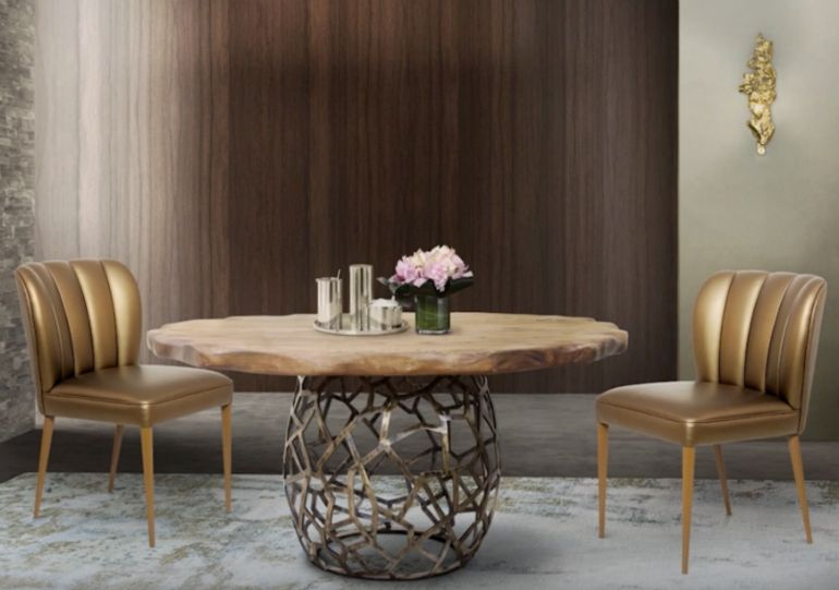 10 Dining Room Sets With Smashing Gold Appointments  Dining Room Best Dining Room Set For 10 Design Decoration