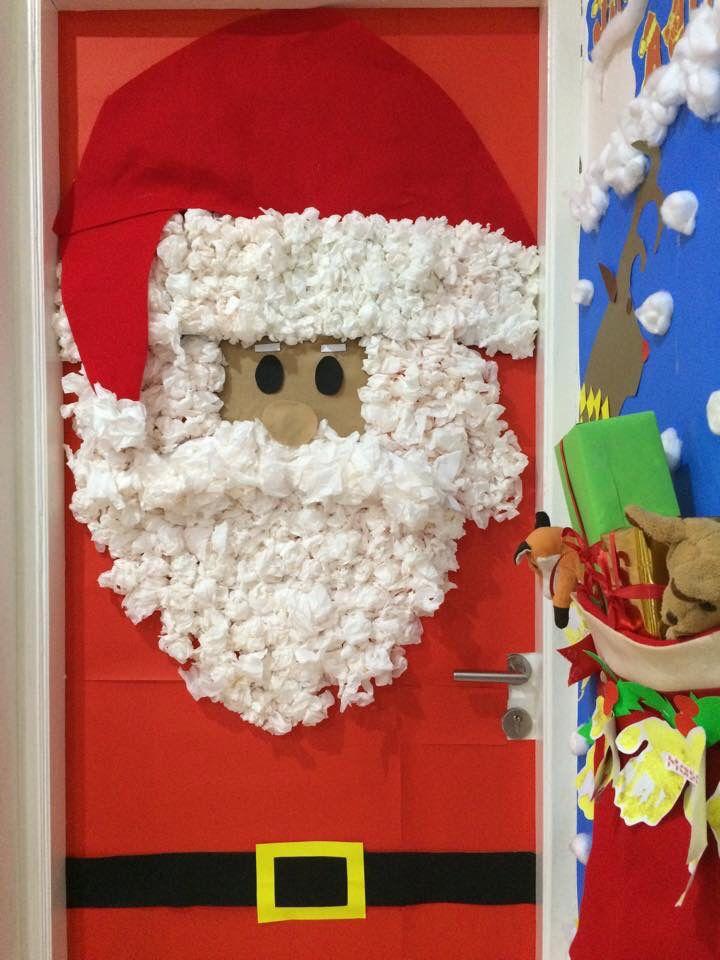 Santa Claus Door Christmas Classroom Decor Christmas