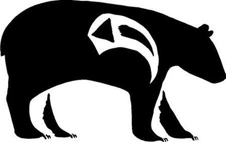 the native american bear is a popular american indian symbol native rh pinterest com