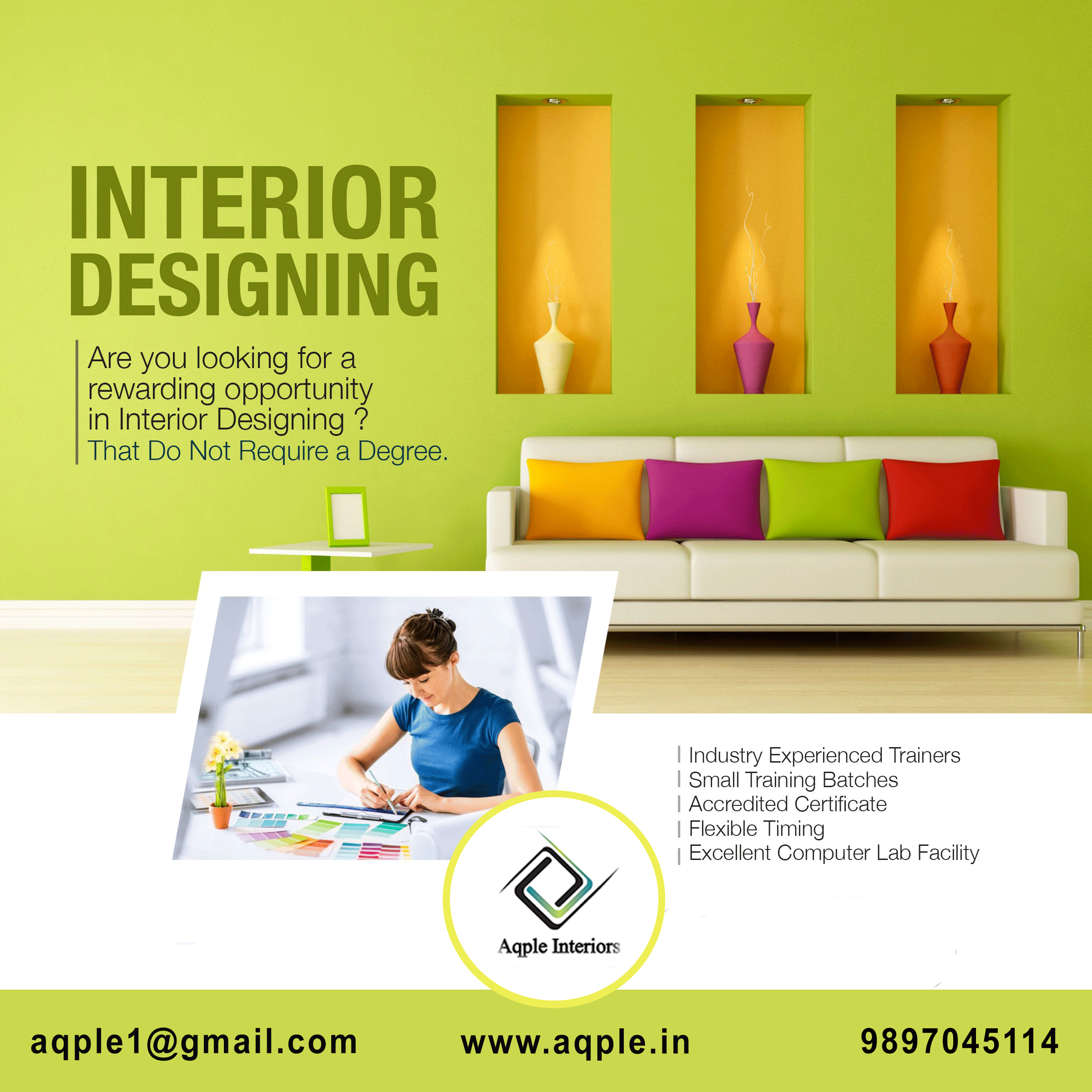 Interior Design Course Are You Looking For A Rewarding Oppoortunity In Interior Designing Cal In 2020 Interior Design Courses Best Interior Design Residential Design