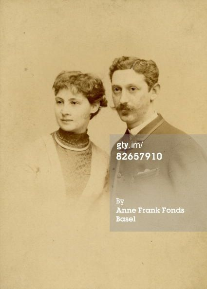 Circa 1890-Alice Frank-Stern and Michael Frank, paternal grandparents of Anne Frank