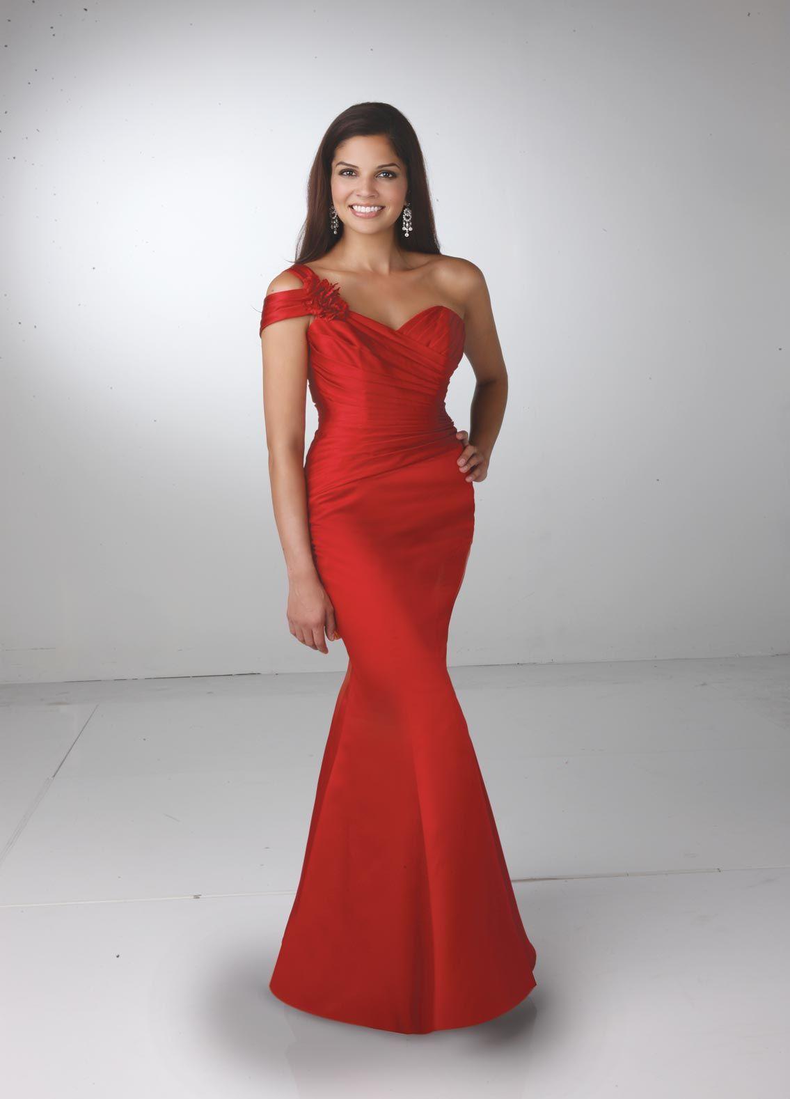 09479ac375 DaVinci Bridesmaid full length satin mermaid dress
