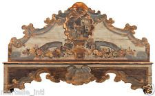 Bench w/ Distress Antique Finish Spanish Colonial Marriage Hand Carved Walnut