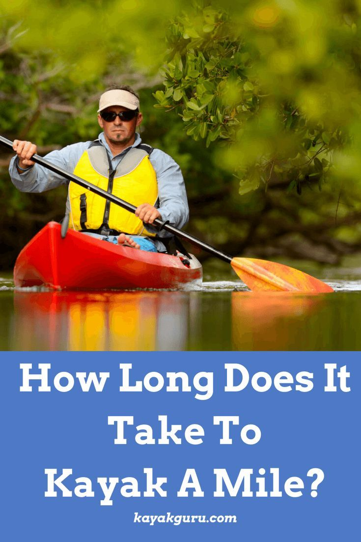 How long does it take to kayak a mile kayak for
