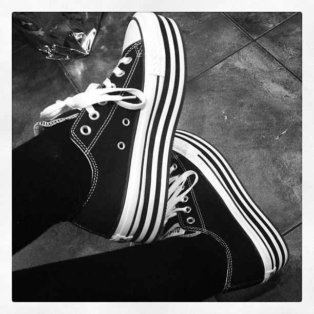 Platform Converse and black knee socks.  1d2675189