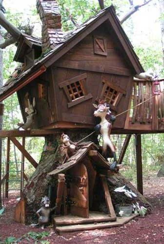 crazy tree house tree house in the middle of a fir forest and few ideas - Cool Kids Tree House