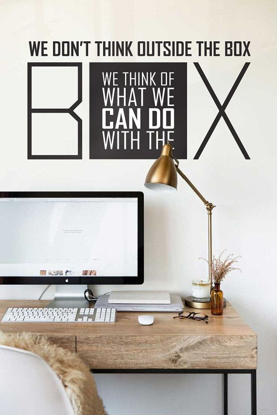 Wall Decal Wall Stickers Wall Quotes Office Decal