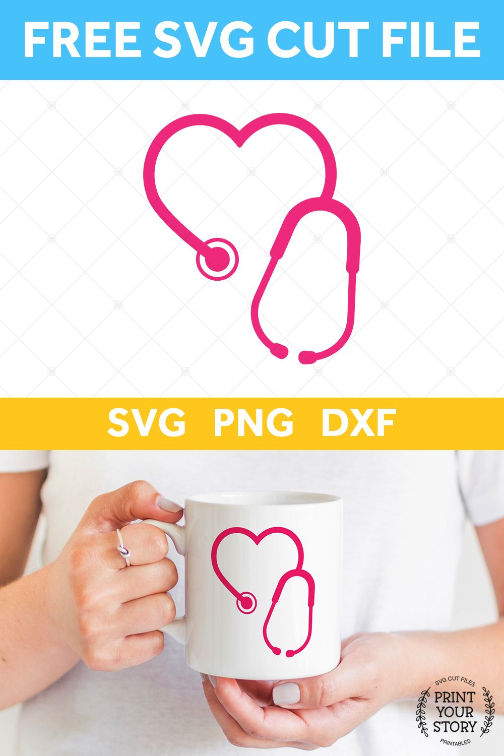 Free Stethoscope SVG File SVG Files Print Your Story