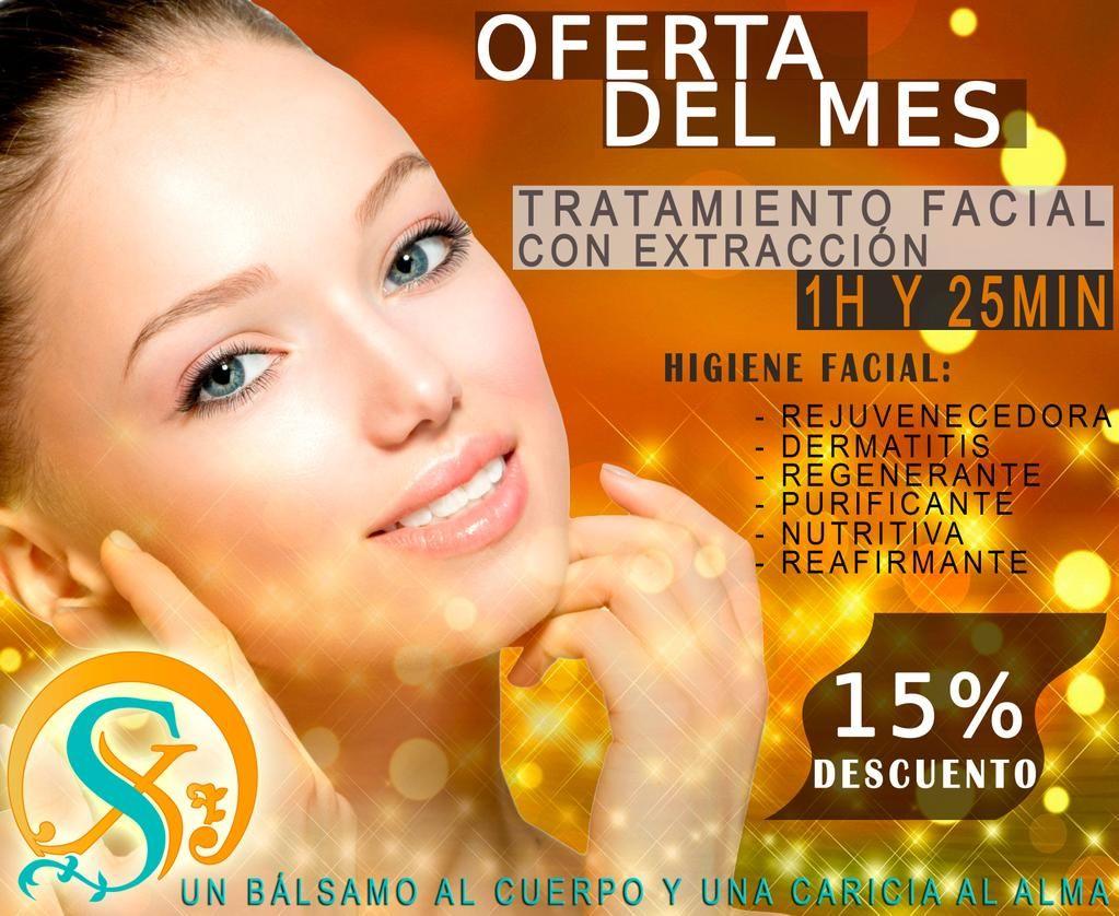 OFERTA DEL MES de Six Senses Spa Tratamiento Facial con Extracción Válido para los meses Agosto y Septiembre