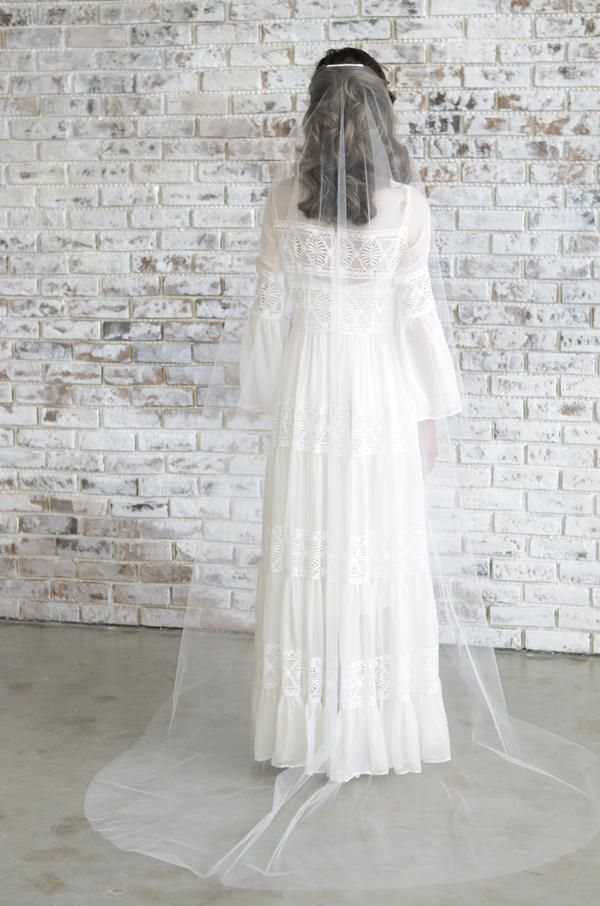 Minimalist Sheer Tulle Veil (With Images)