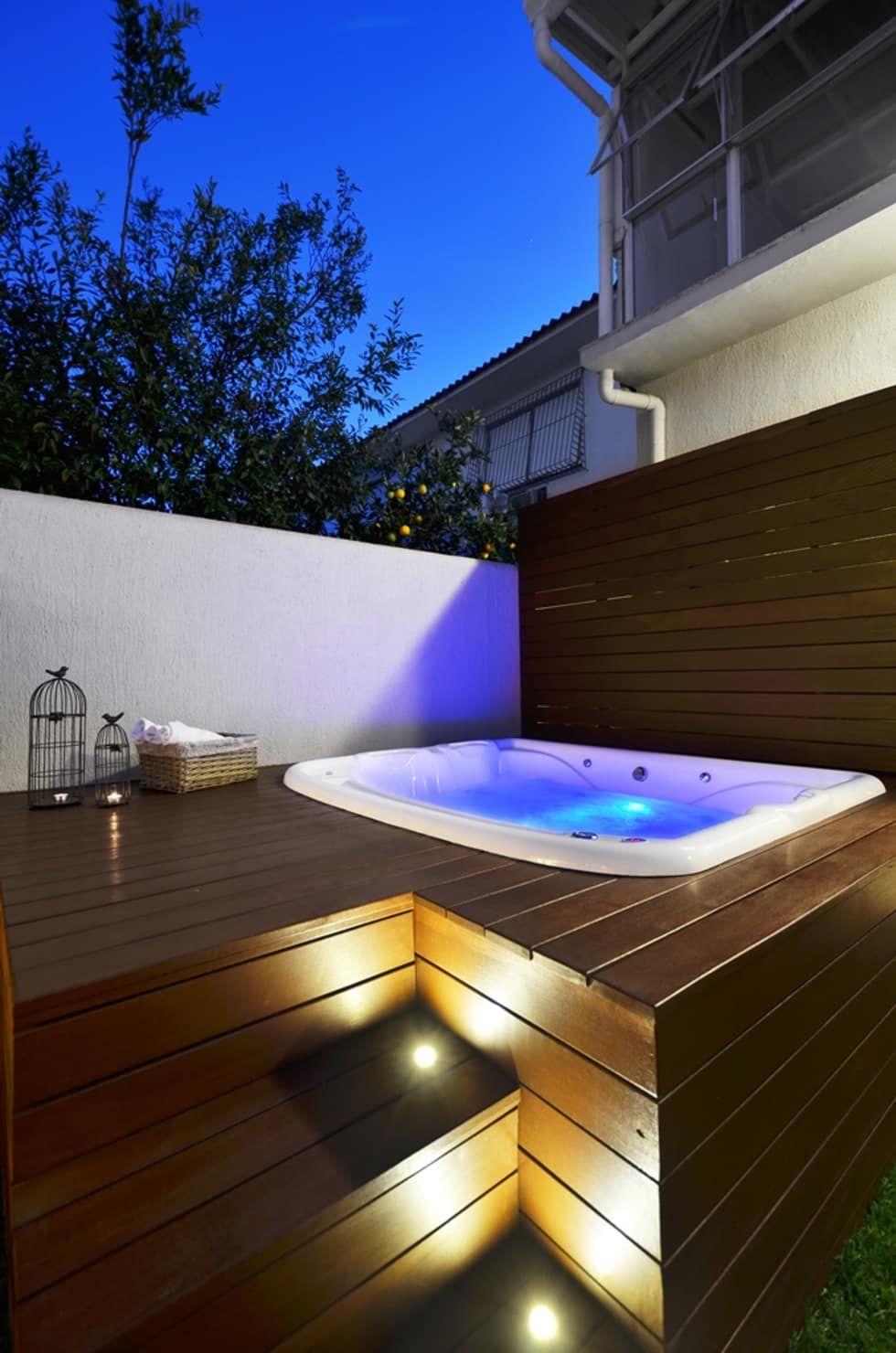 Fotos de spas rústicos área de lazer na cidade jacuzzi spa and