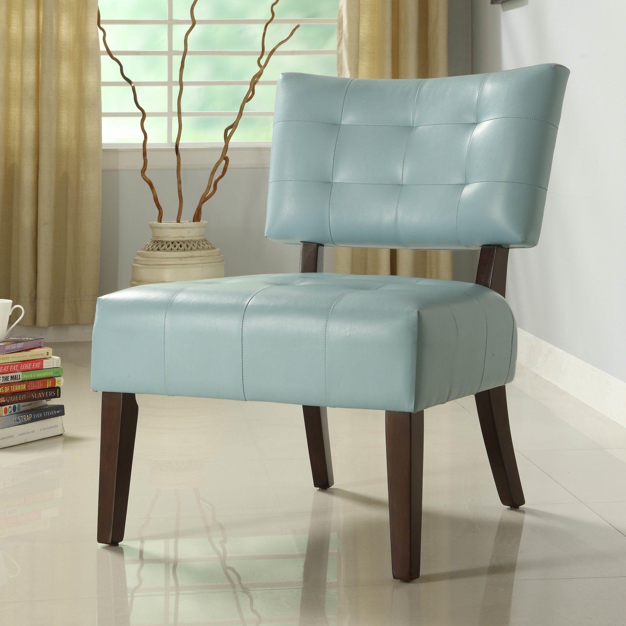 Woodhaven Hill Warner Vinyl Slipper Chair AllModern
