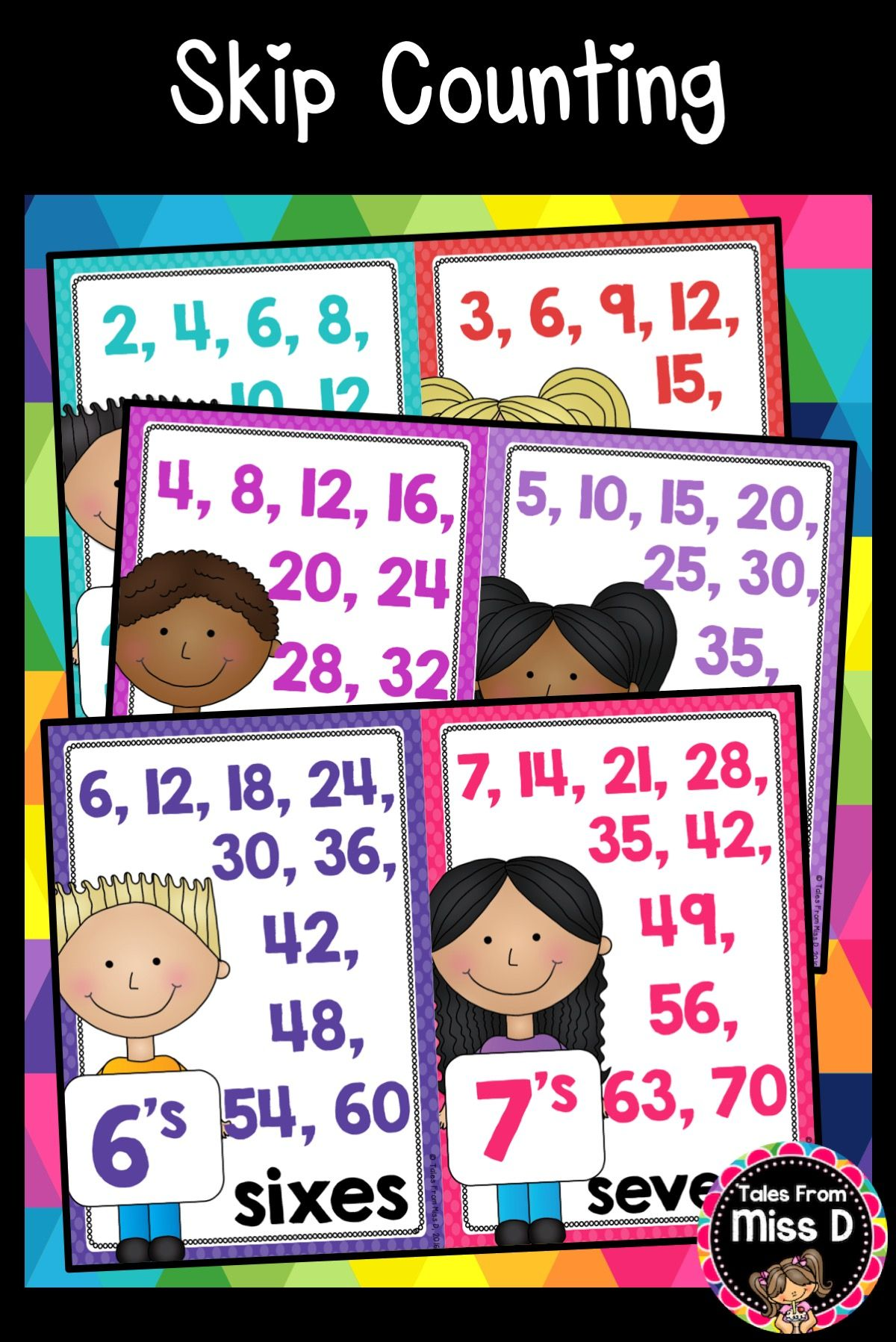 Skip Counting Posters : counting, posters, These, Counting, Posters, Class, Display, Assist, Students, Counting., Inc…, Counting,, Number, Sense,, Operations