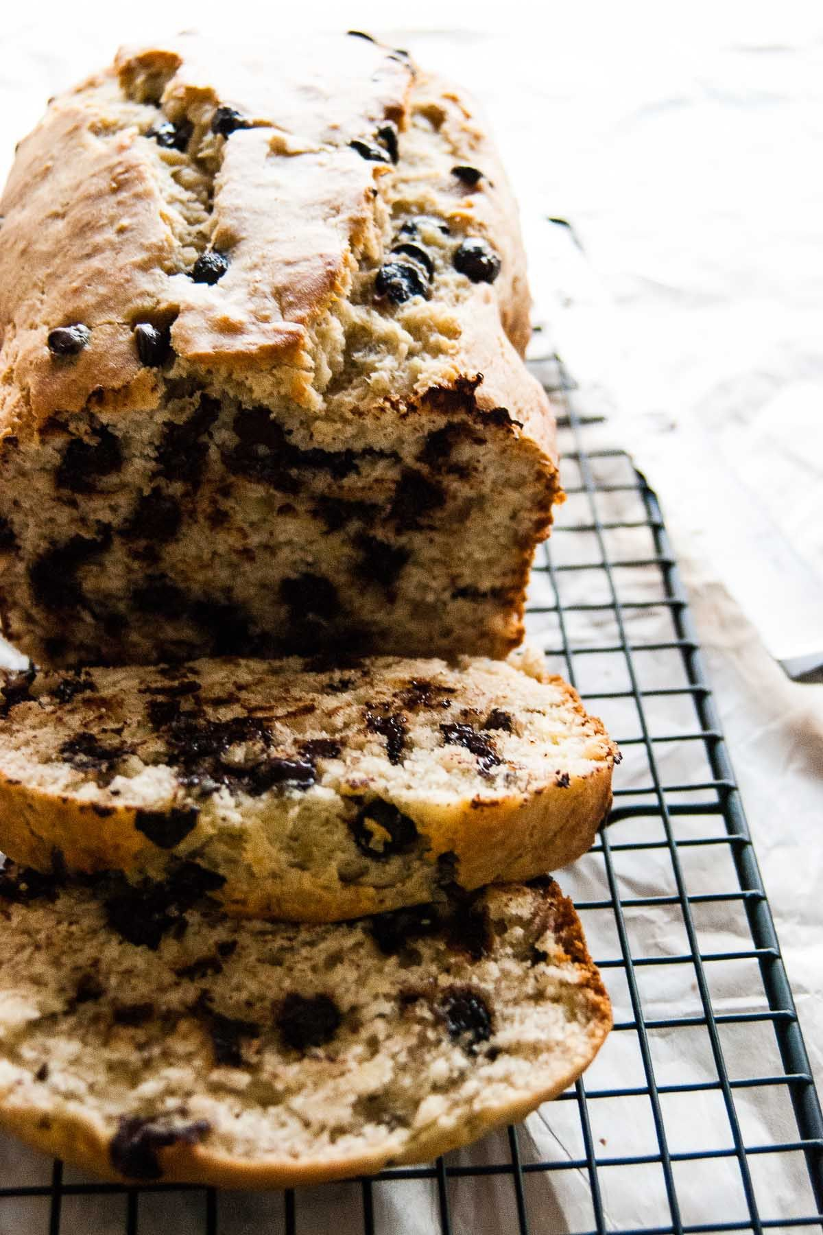 Chocolate Chip Buttermilk Banana Bread Recipe Buttermilk Banana Bread Banana Bread Recipes Banana Chocolate Chip