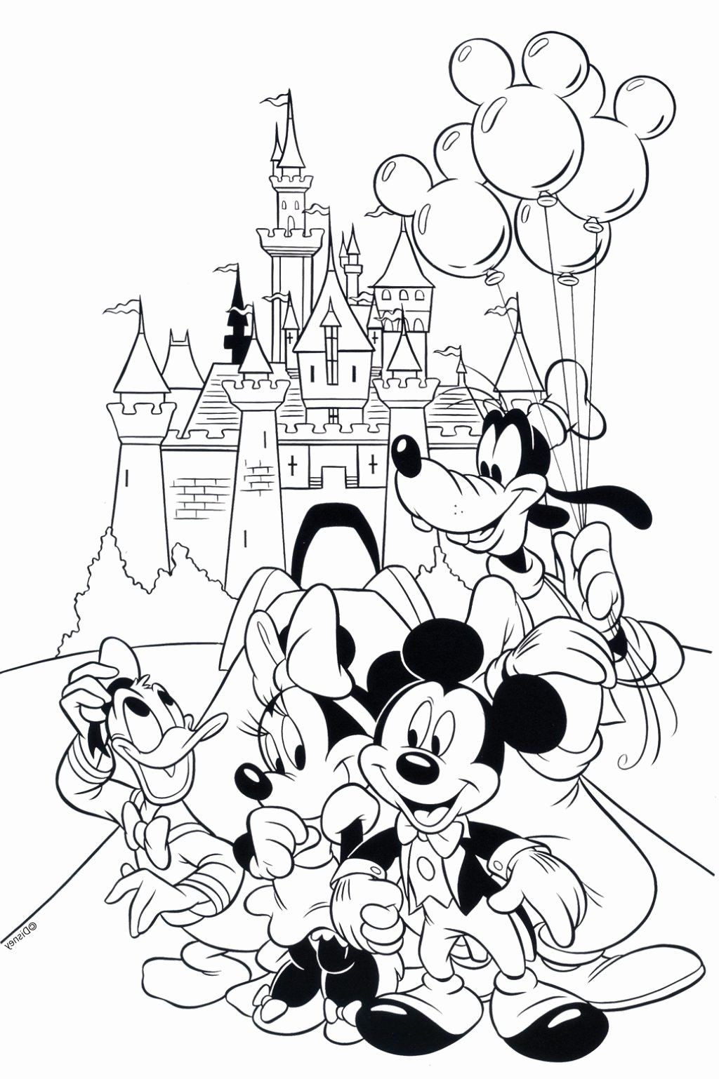 Coloring Pages Cartoons Disney In 2020 Mickey Coloring Pages