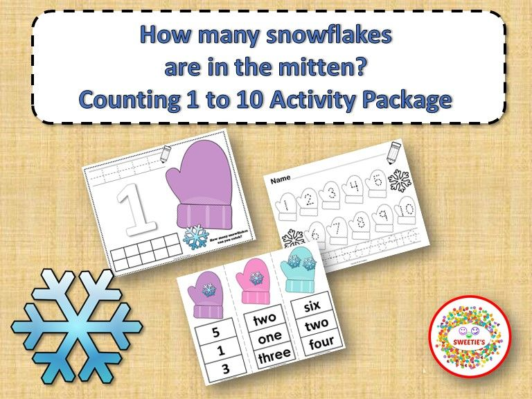 Count 1 to 10 - How Many Snowflakes Counting Activity | Kindergarten