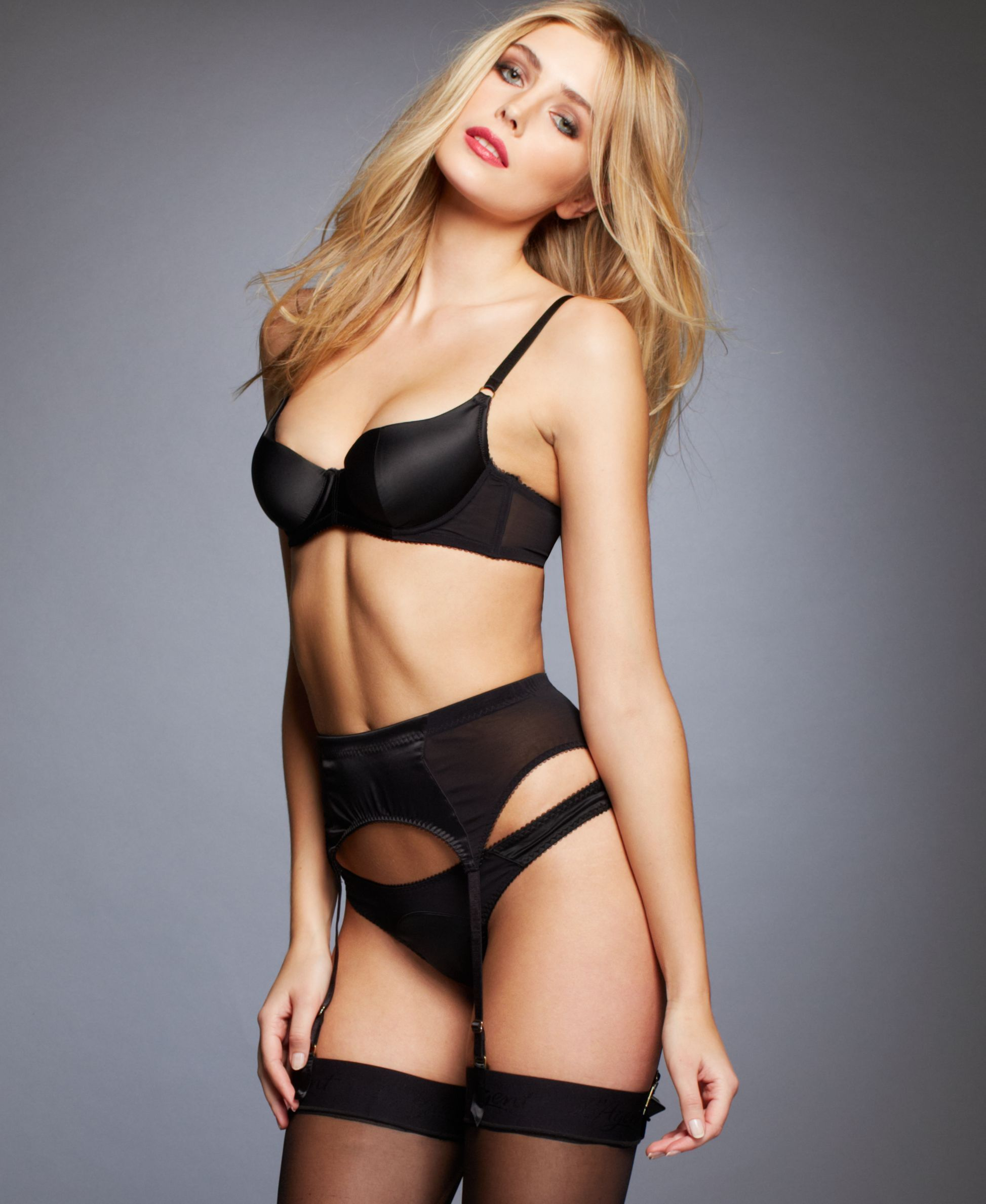 6c81a245b9 Leave a lasting impression with sexy styles by L Agent by Agent  Provocateur. The Penelope Padded Balcony Bra features satin push-up cups  and structured ...