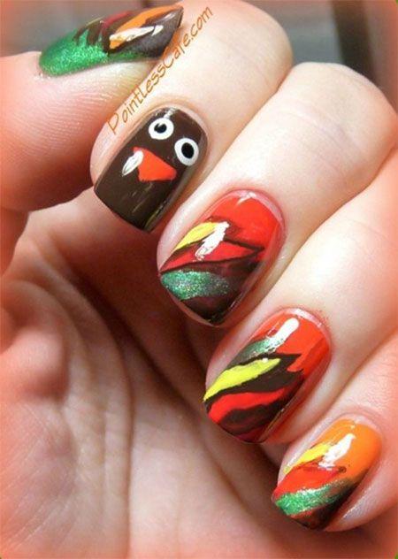 Thanksgiving Nail Art Designs Easy Cute Thanksgiving Nail Art