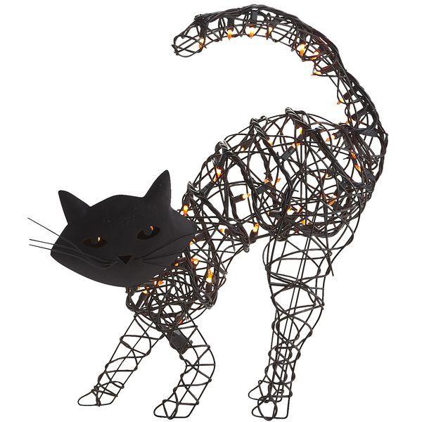 Pier 1 Pre-Lit Halloween Black Cat Halloween Cats Pinterest