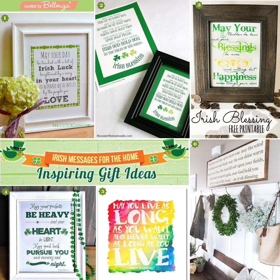 Irish Wedding Gift Ideas: Irish House Blessing Gift Ideas: Semi-DIY Or Buy