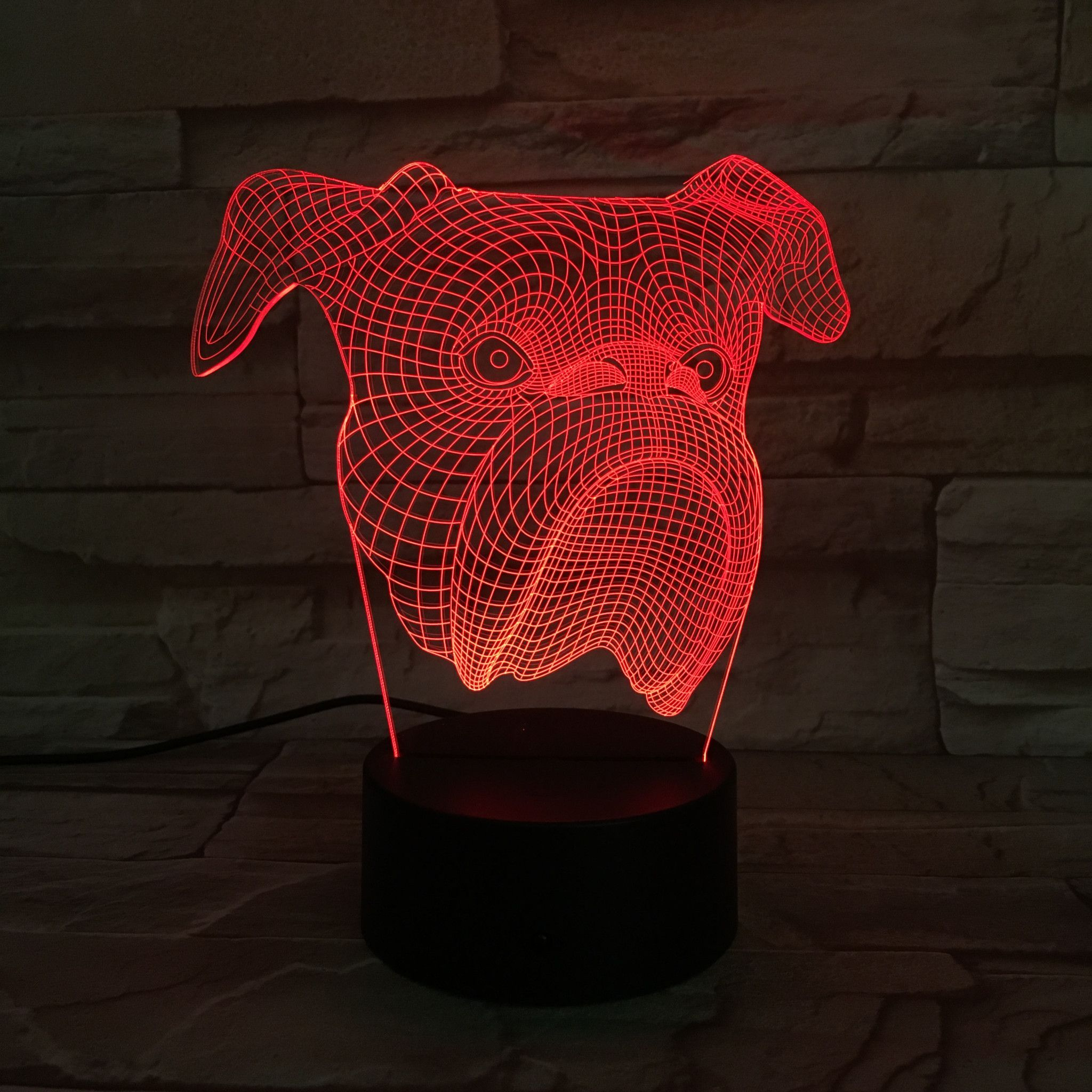 Bulldog 3d Illusion Lamp 3d Illusion Lamp 3d Illusions 3d Led Lamp