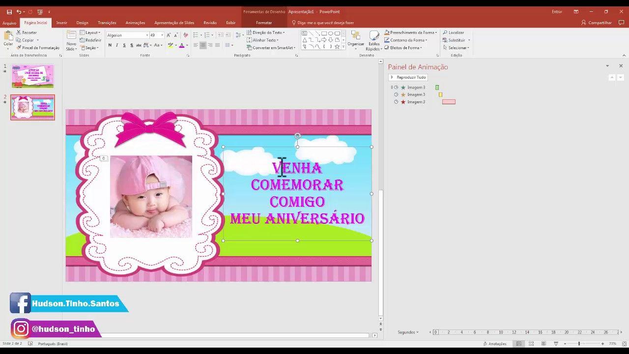 Como Fazer Convite Virtual Animado No Power Point Atualizado