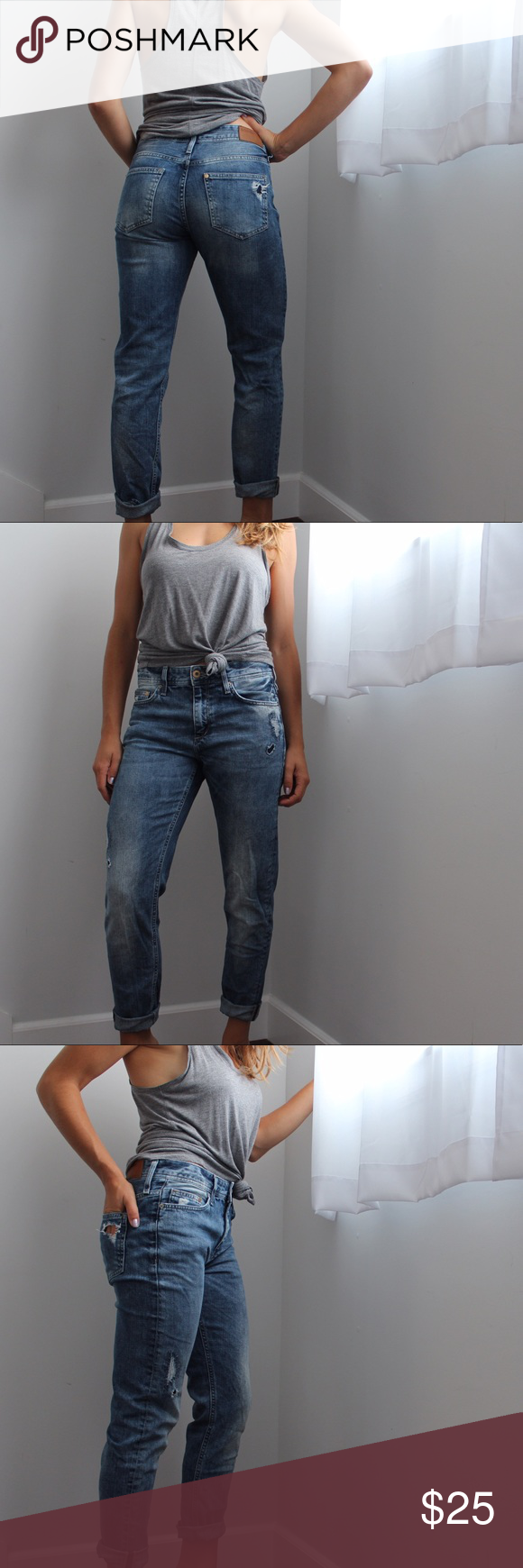 H&M Boyfriend Jeans w/ Tapered Leg & Distress The most comfortable ...