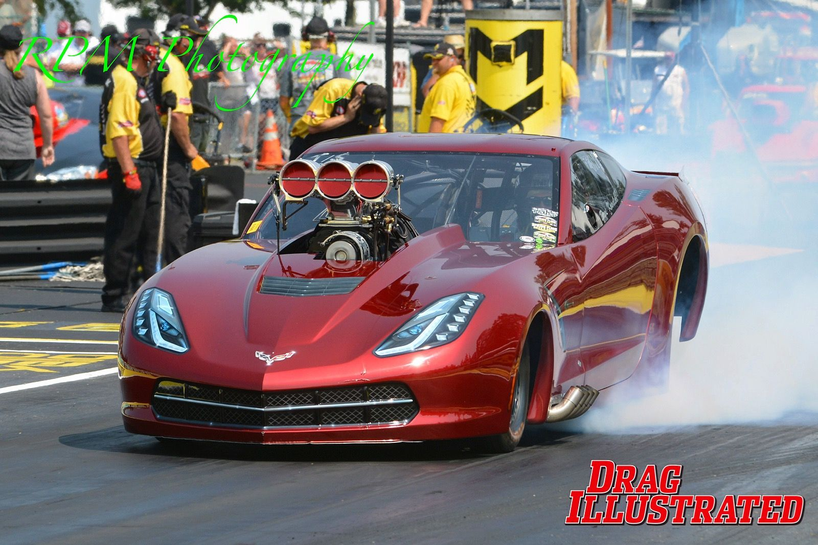 Top Sportsman Corvette burnout | Pro Mod Drag cars | Pinterest ...