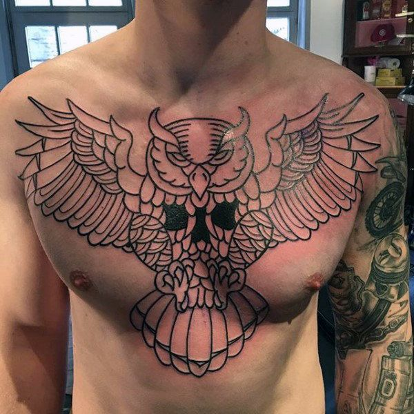 70 Traditional Owl Tattoo Designs For Men – Wise Ink Ideas ...